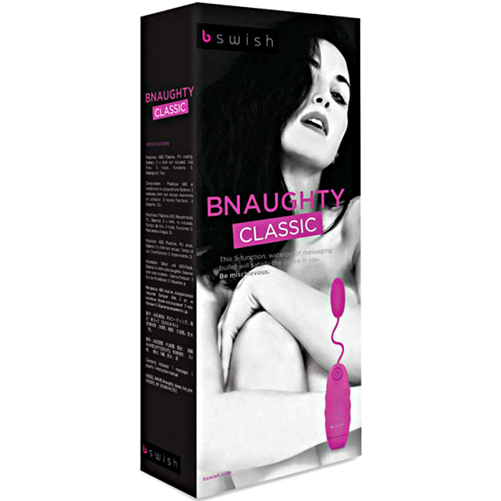 Bnaughty Classic Vibrating Bullet Hot Pink - View #1