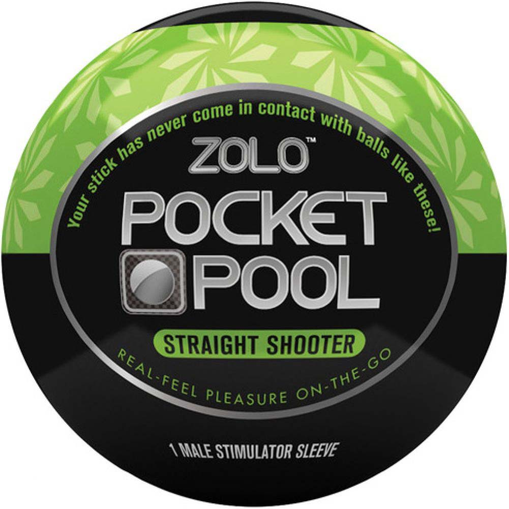 Zolo Pocket Pool Straight Shooter Male Stroker Green - View #2