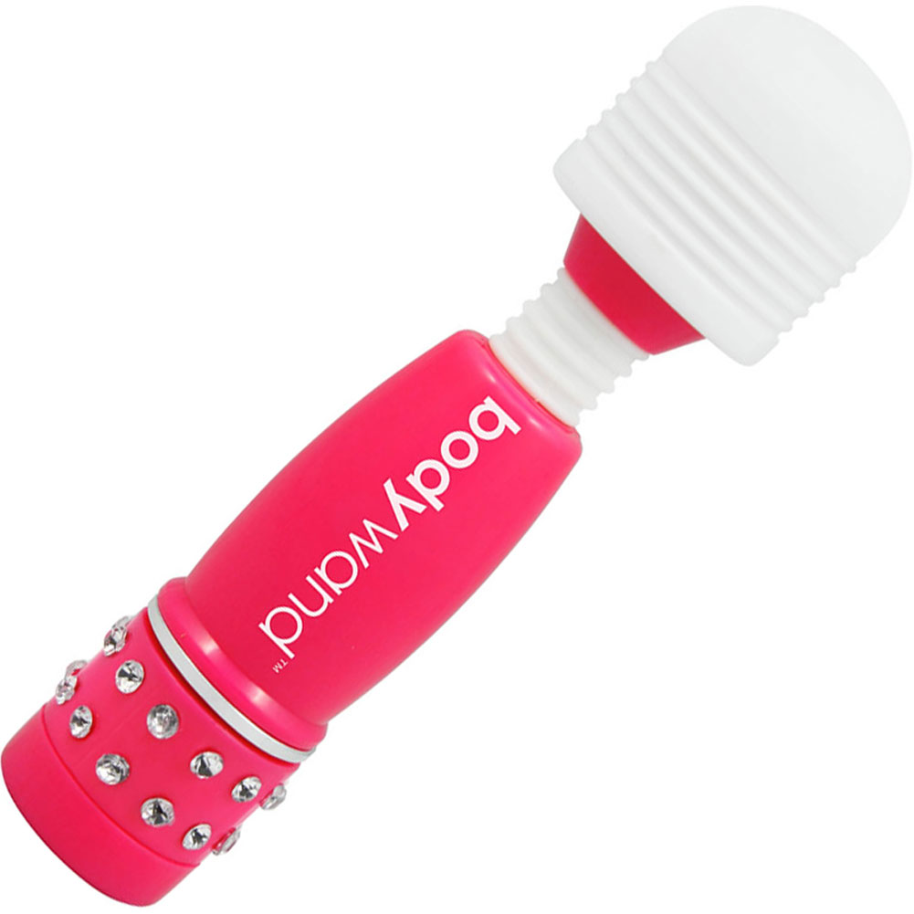 "BodyWand Waterproof Vibrating Mini Massager 4"" Neon Pink - View #2"
