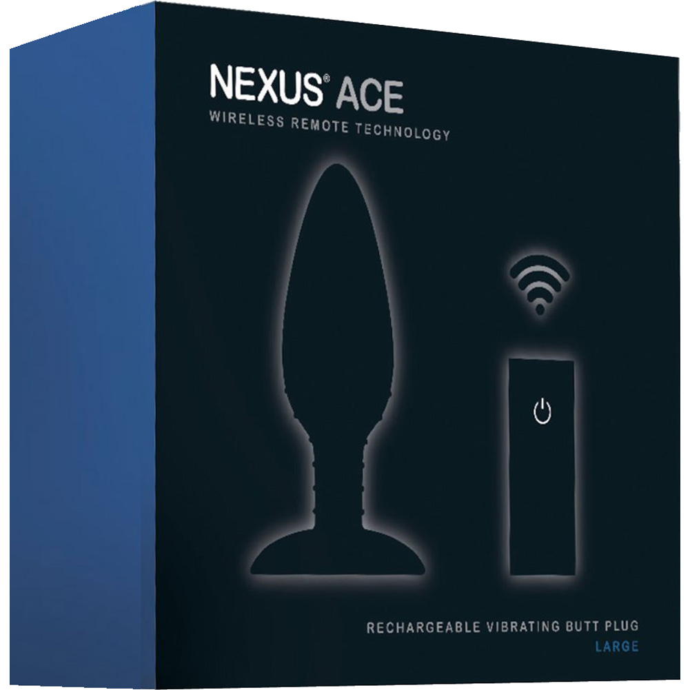 "Nexus Ace Large Wireless Remote Control Vibrating Butt Plug 7"" Black - View #3"