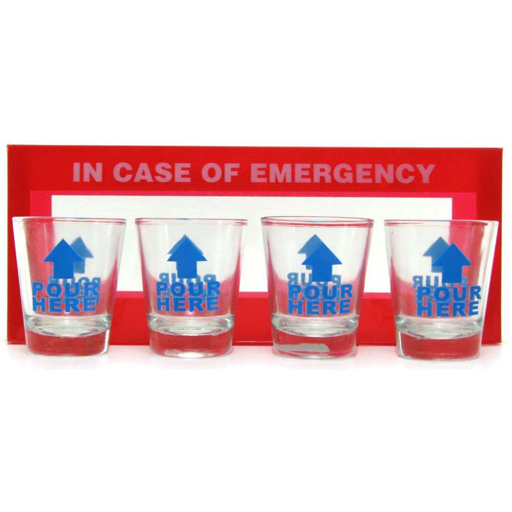 In Case of Emergency Shot Glasses 4 Piece Pack - View #2