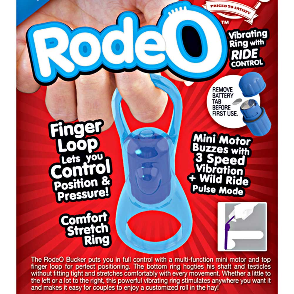 Screaming O Rodeo Bucker Cock Ring One Size Blue - View #1