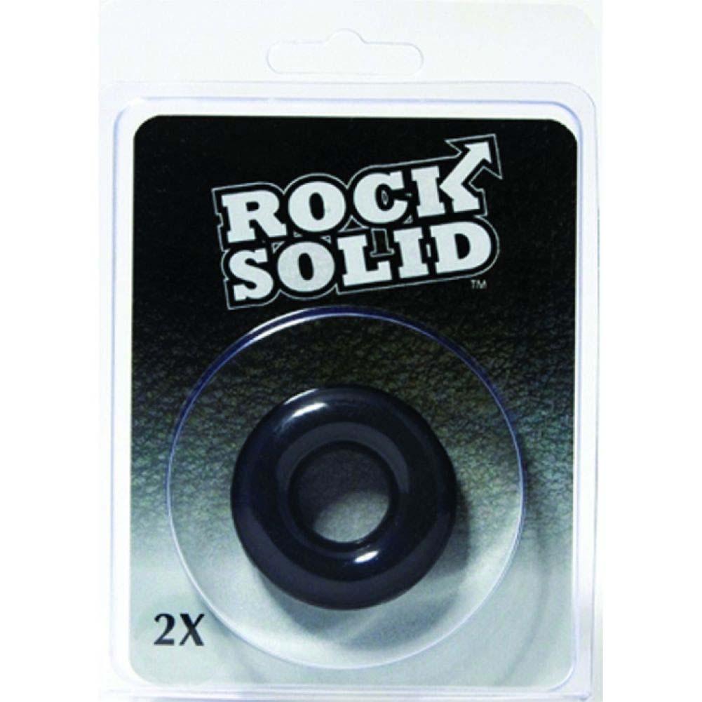 """Rock Solid 2"""" Black Donut Ring - View #1"""