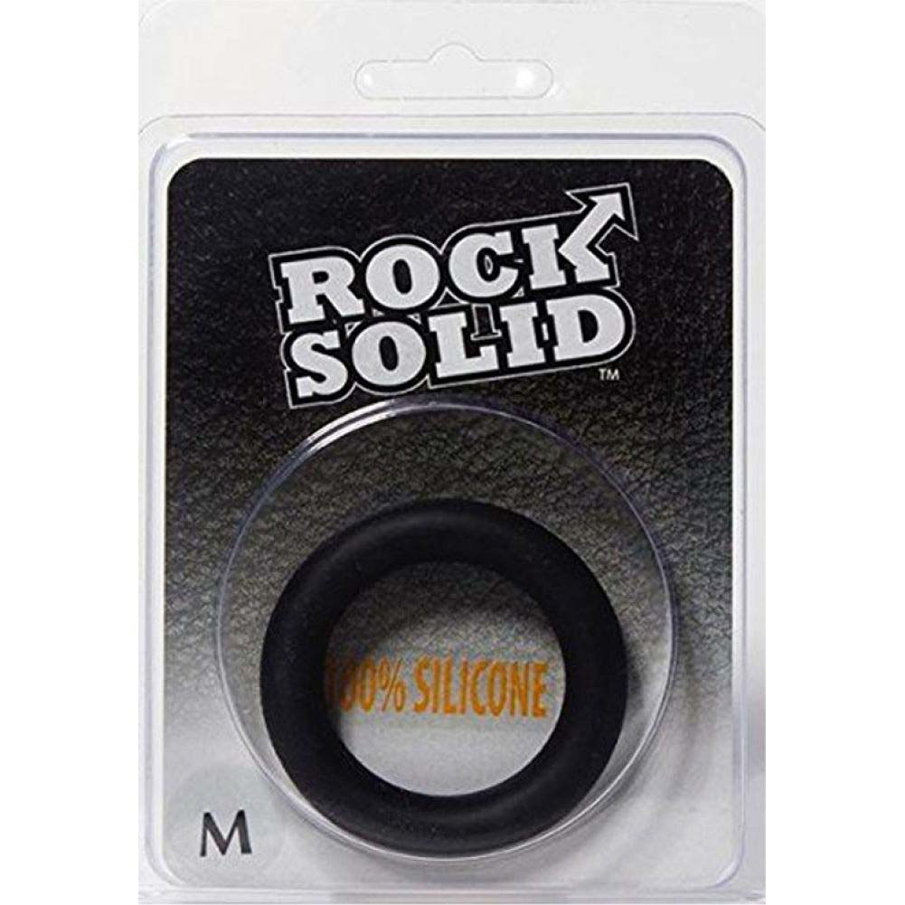 Rock Solid Silicone Black C-Ring Medium - View #1