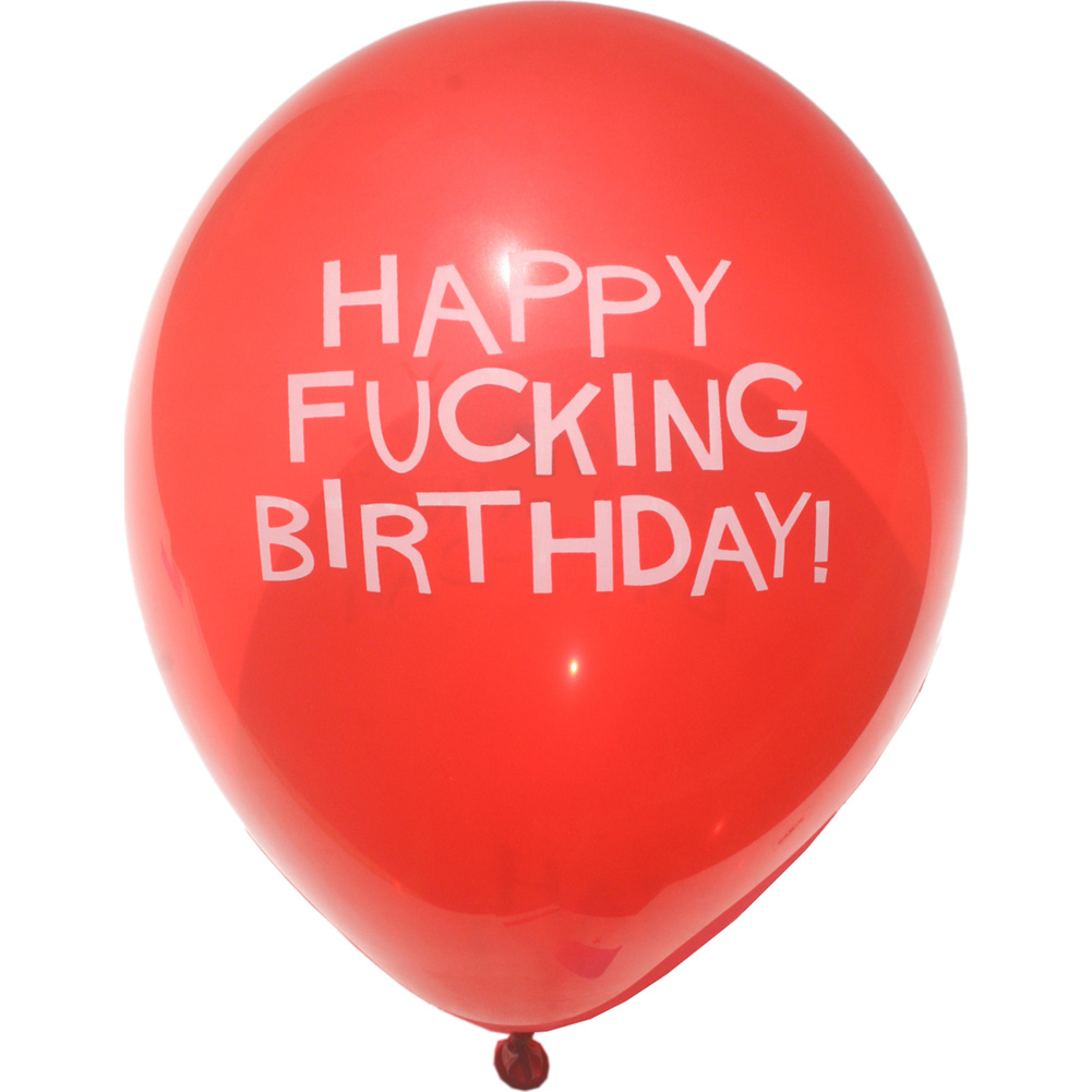"""11"""" Happy Fucking Birthday Balloons Pack of 8 Assorted Balloons - View #3"""