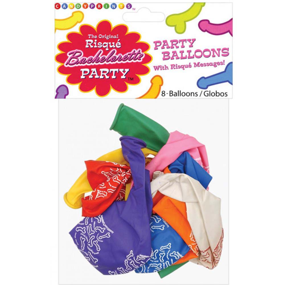 "Risque Bachelorette Party 11"" Latex Balloons 8 Count - View #1"