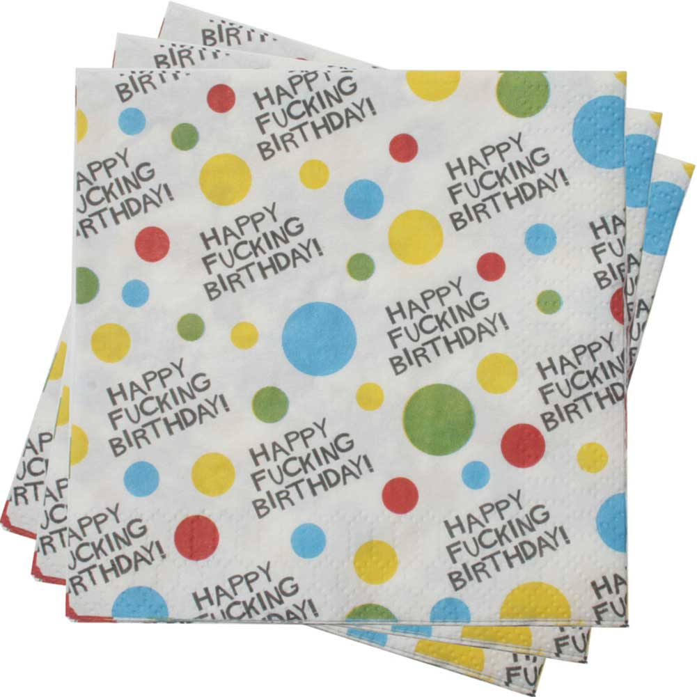 X-Rated Birthday Party Napkins 2 Ply 8 Count - View #2