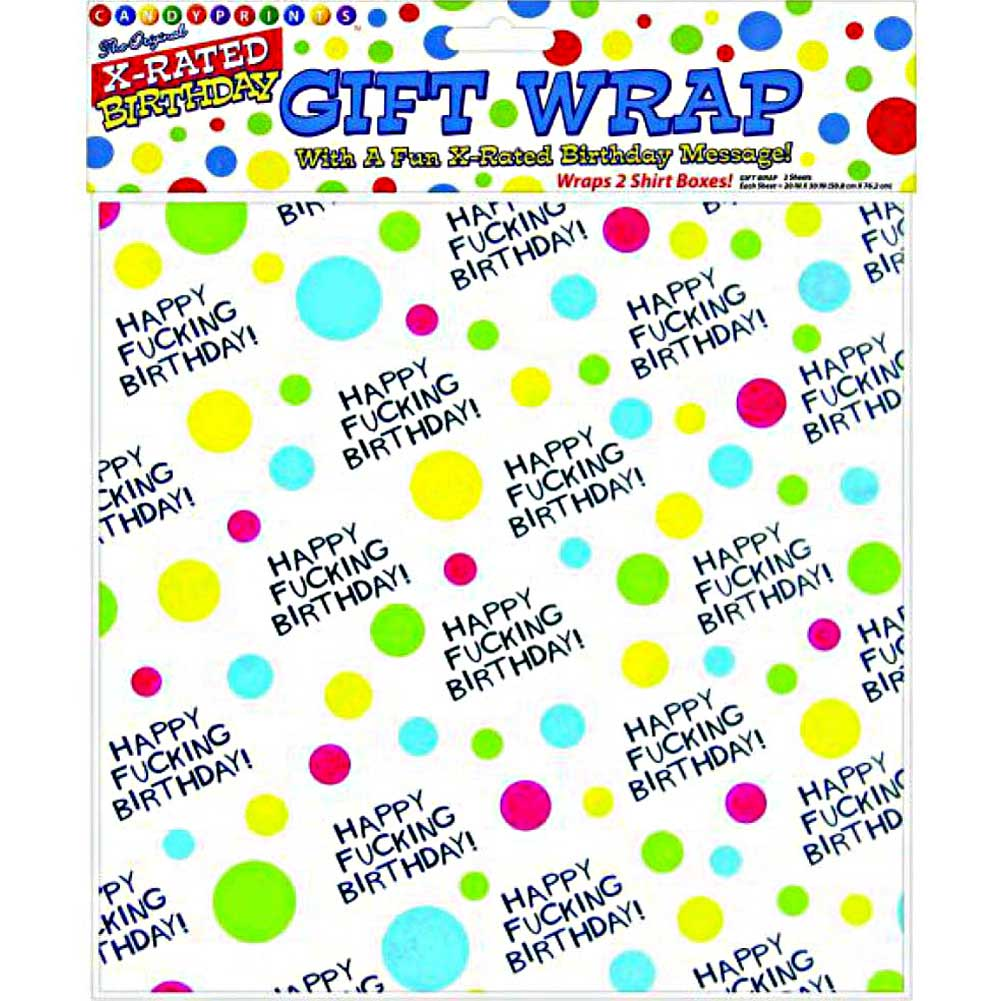 Happy Fucking Birthday Giftwrap 2 Sheets - View #1