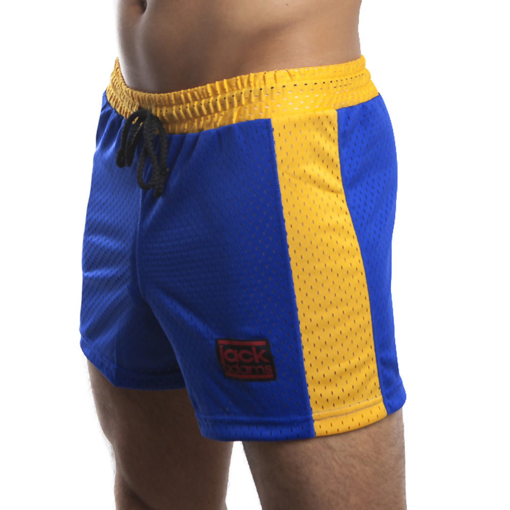 Jack Adams Air Mesh Gym Short Blue Yellow Extra Large - View #1