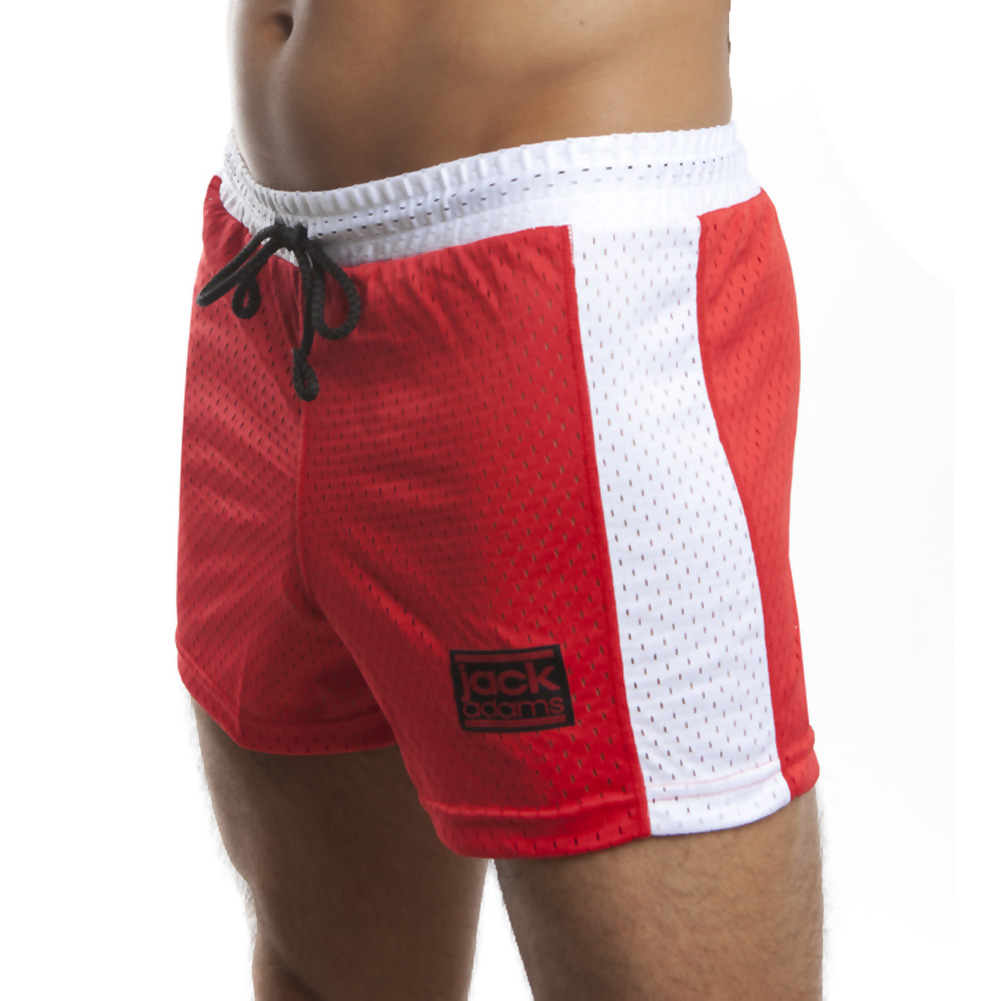 Jack Adams Air Mesh Gym Short Red White Small - View #1