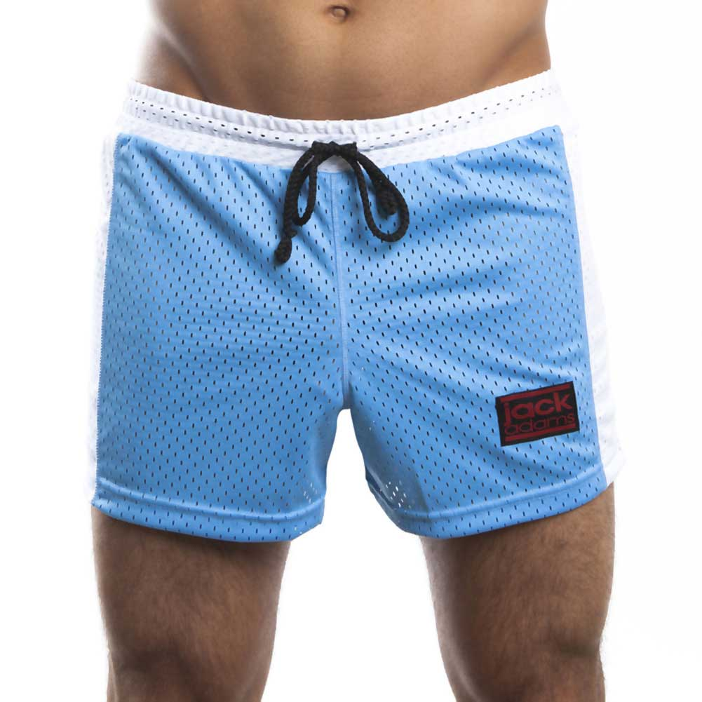 Jack Adams Air Mesh Gym Short Sky Blue White Medium - View #2