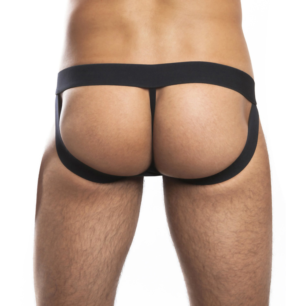 Jack Adams Miracle Jock with Elastic Lifts Large Black and Red - View #3