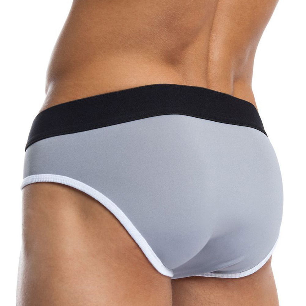 Jack Adams Flex Fit Army Brief Grey White Small - View #2