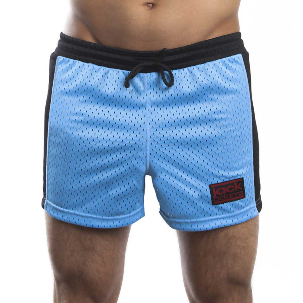 Jack Adams Air Mesh Gym Short Sky Blue Black Medium - View #2