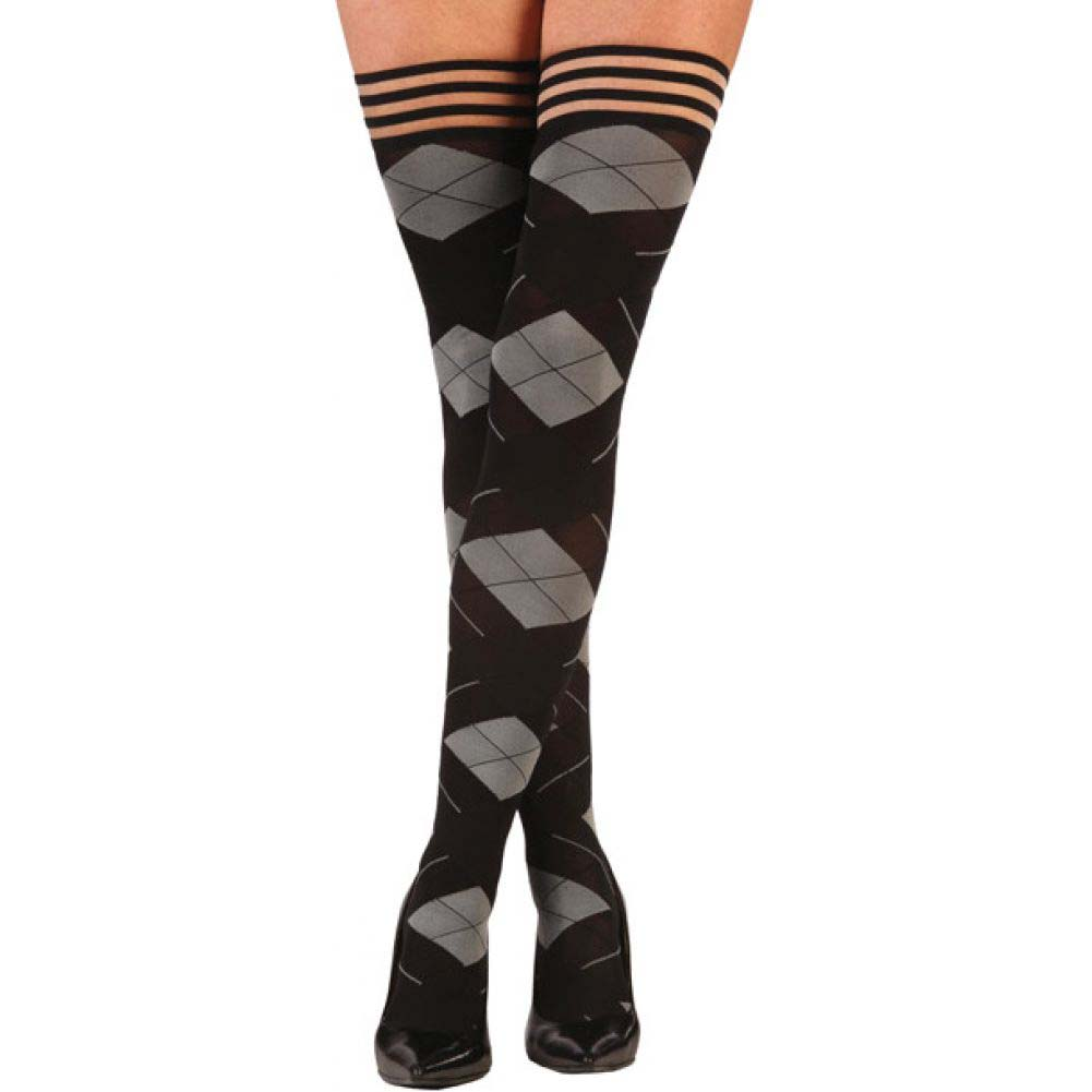 KixIes Kimmie Argyle Thigh High Argyle B - View #1