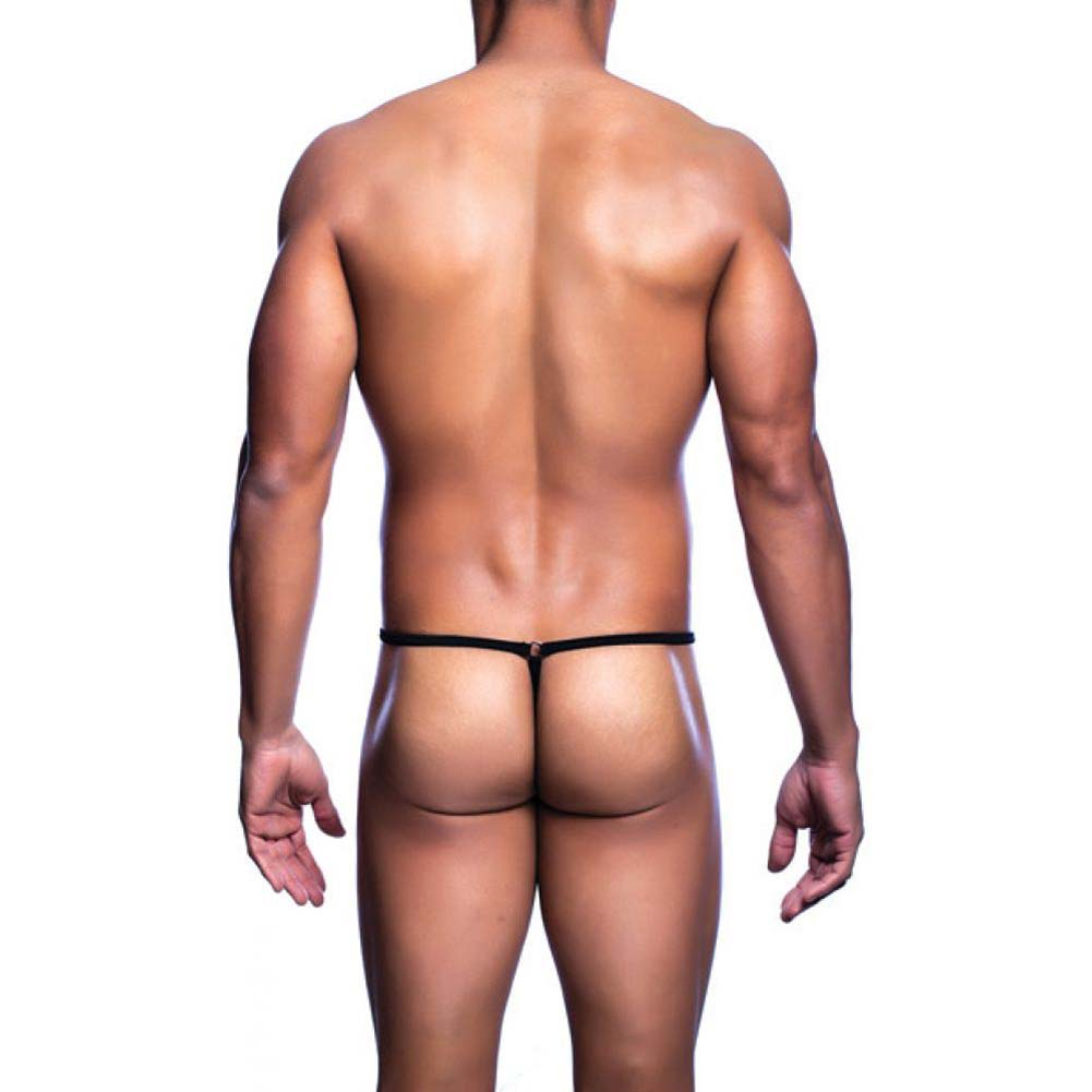 Male Basics Mob Tear Drop Thong Black Large Extra Large - View #2