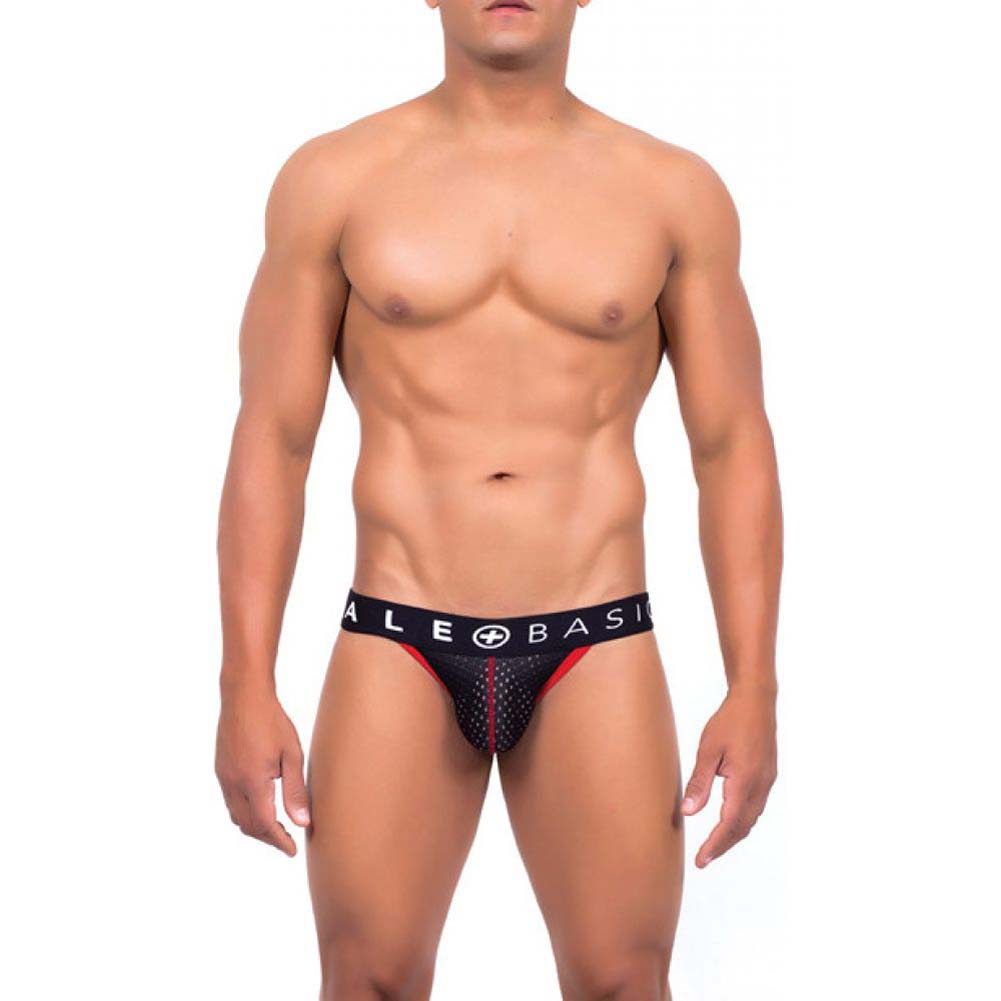Male Basics Spot Jock Black Medium - View #2