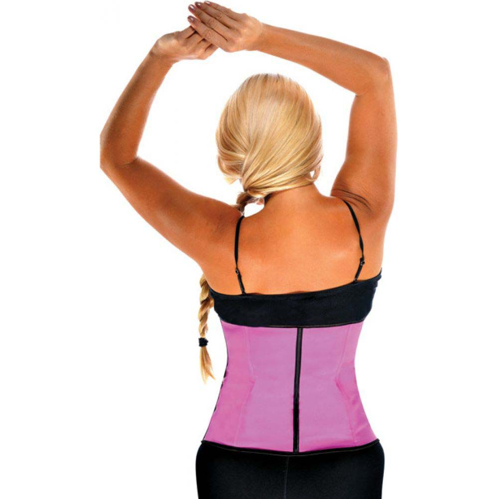 Gym Work Out Waist Trainers Hot Pink 2X - View #2