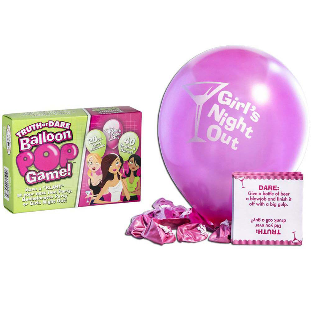 Bride-to-Be Truth or Dare Balloon Pop Game Includes 20 Balloons - View #2