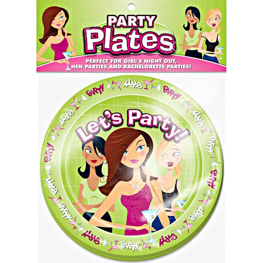 "LetS Party 8"" Plates 10 Piece Pack - View #1"