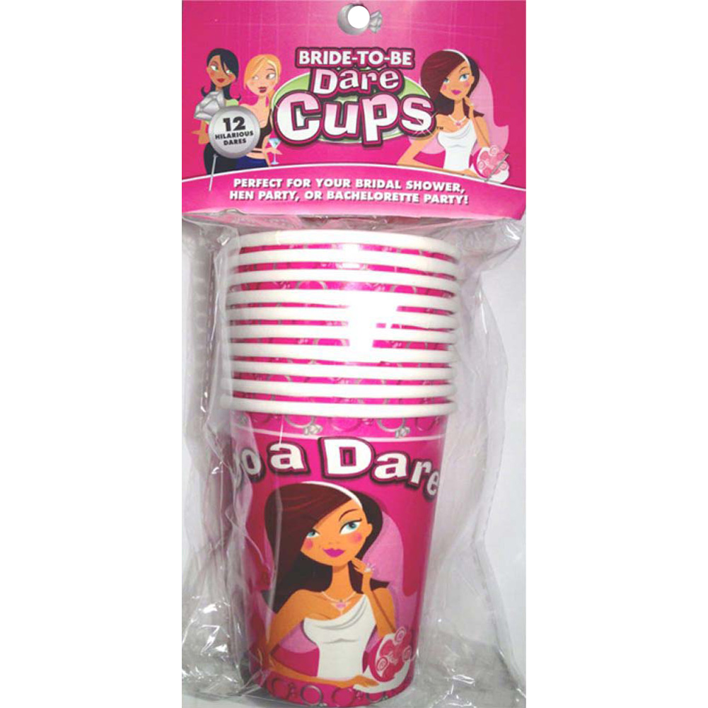 Bride to Be Dare Cups 9 Oz 10 Piece Pack - View #1