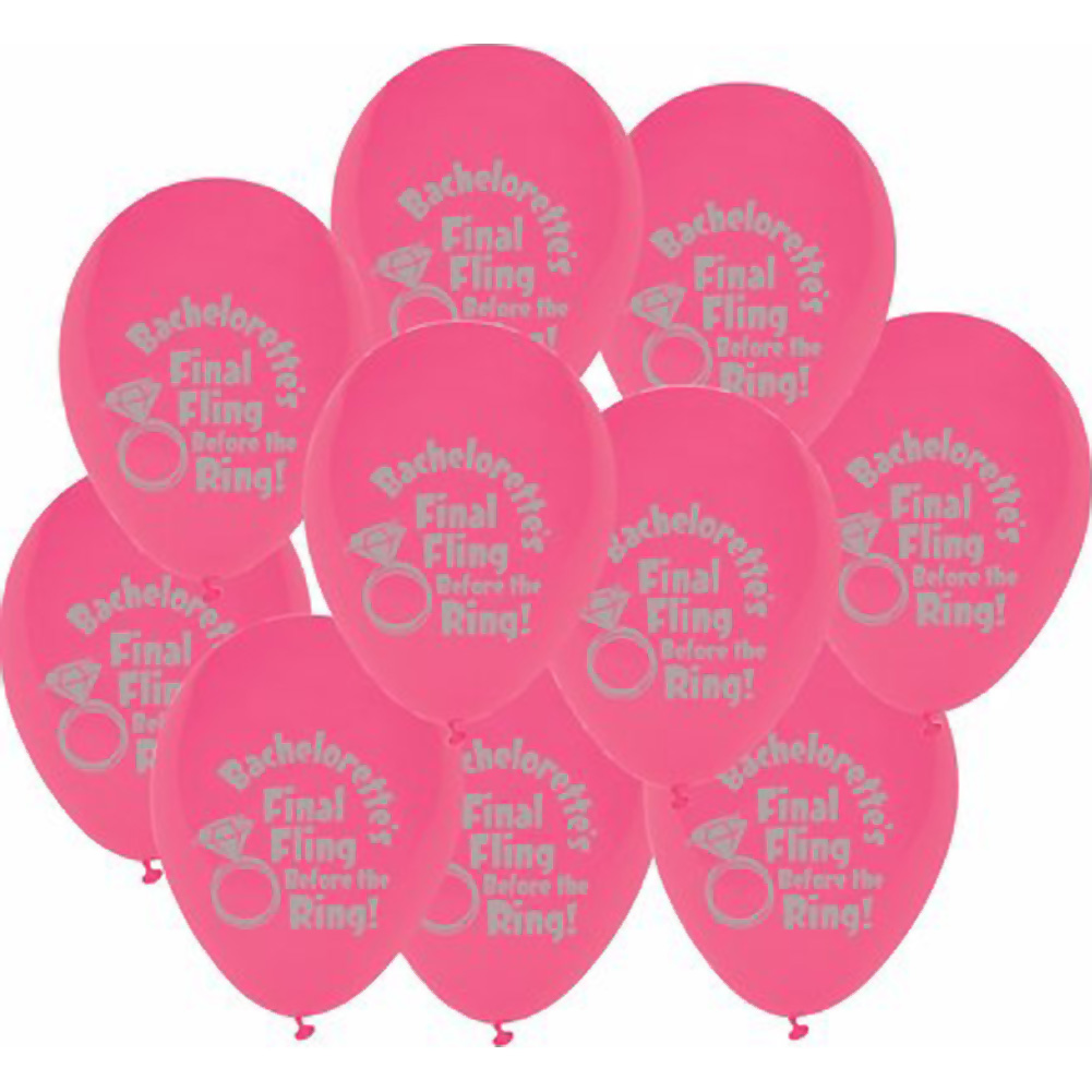 Final Fling Before the Ring Balloons 10 Piece Pack - View #2