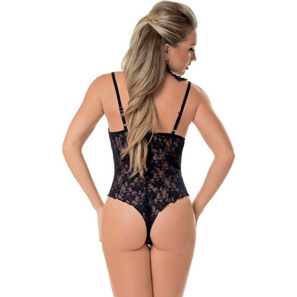 Escante Lace Teddy with Ajustable Staps One Size Black - View #2