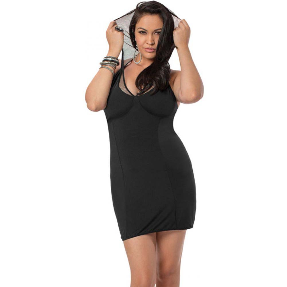 Halter Hooded Dress Black Queen - View #1