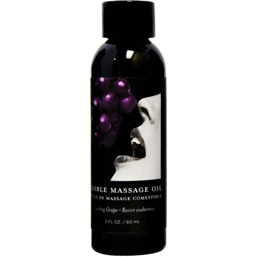 Earthly Body Edible Massage Oil 2 Fl.Oz 60 mL Gushing Grape - View #1