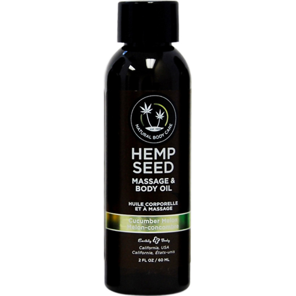 Earthly Body Hemp Seed Massage and Body Oil2 Fl.Oz 60 mL Cucumber Melon - View #1