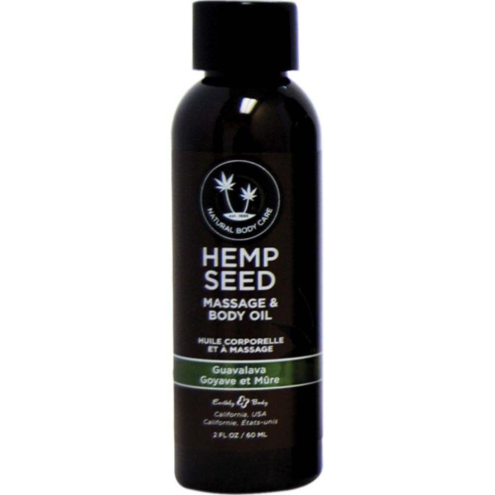 Earthly Body Hemp Seed Massage and Body Oil 2 Fl.Oz 60 mL Guavalva - View #1