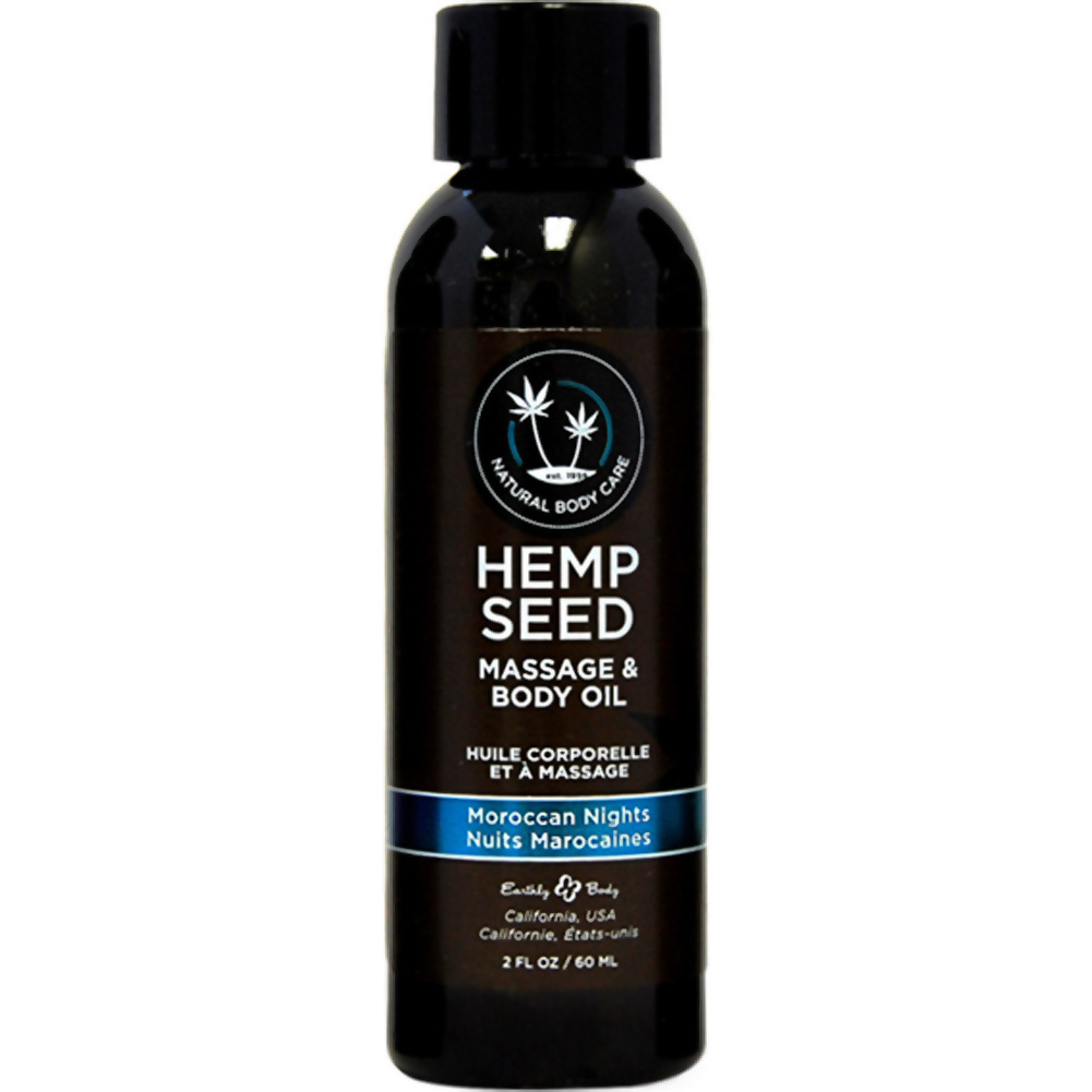 Earthly Body Hemp Seed Massage and Body Oil 2 Fl.Oz 60 mL Moroccan Nights - View #1