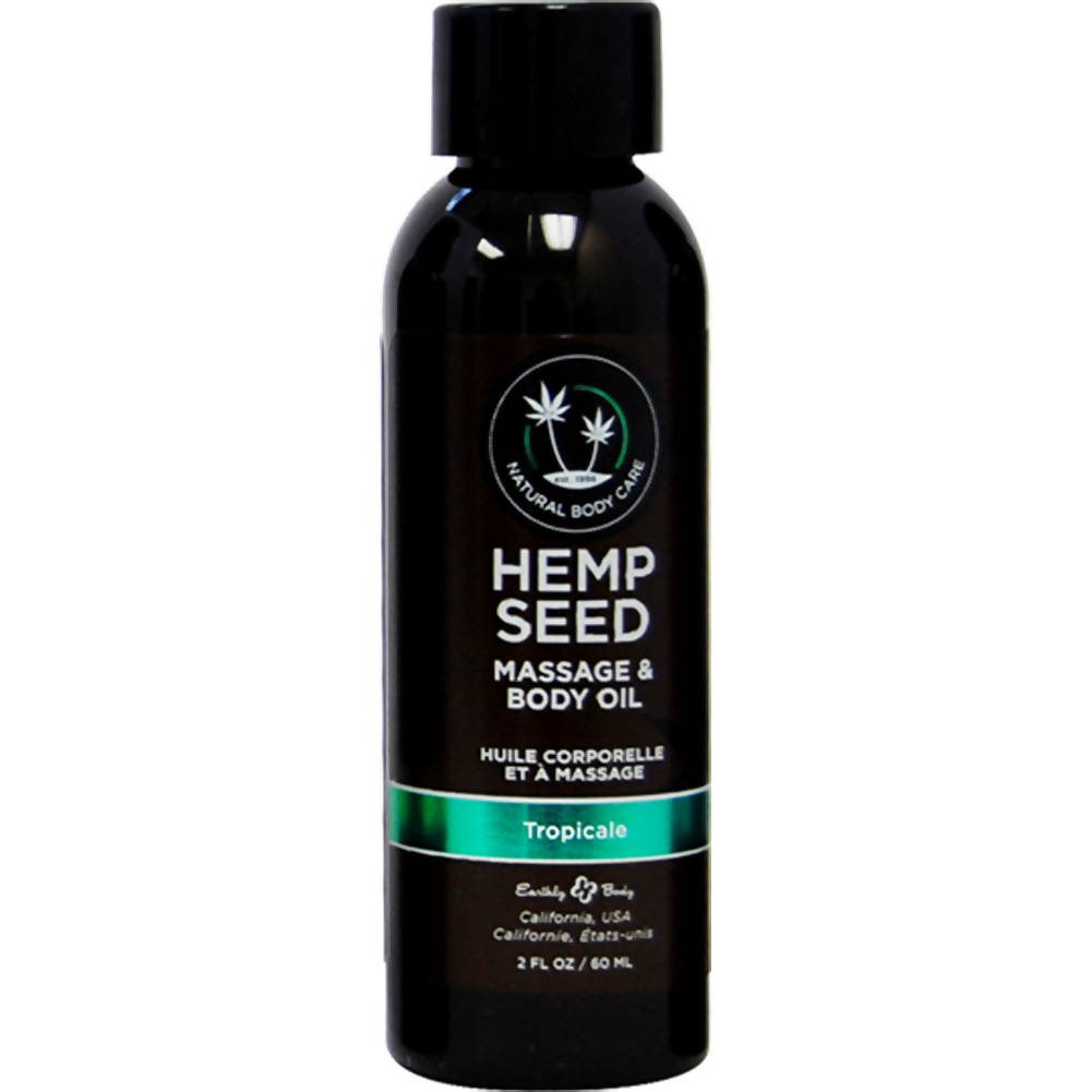 Earthly Body Hemp Seed Massage and Body Oil 2 Fl.Oz 60 mL Tropicale - View #1