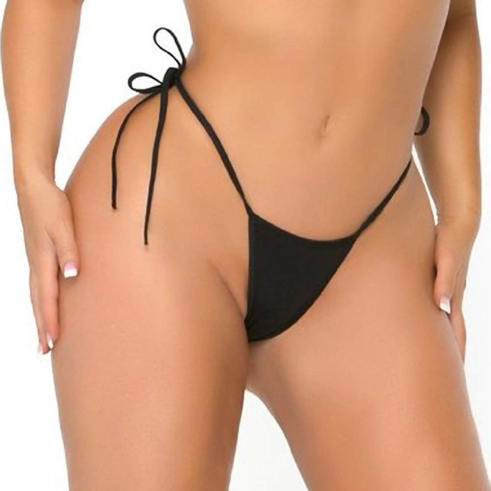 Cocolicious Less Is More Micro Side Tie G-String Black One Size - View #1