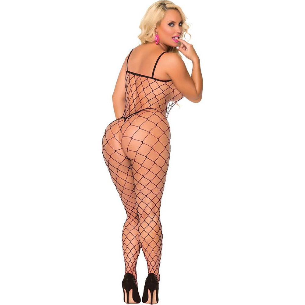 Cocolicious Fenced in Net Bodystocking Black One Size - View #2