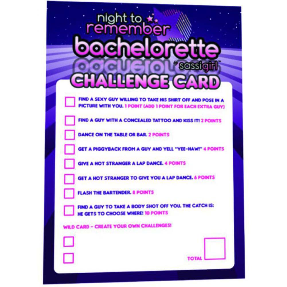 Night to Remember Bachelorette Challenge Cards by Sassigirl - View #1