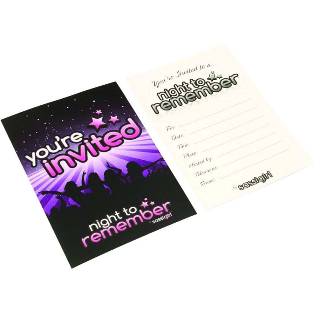 Night to Remember Party Invitations 6 Piece Pack by Sassigirl - View #2