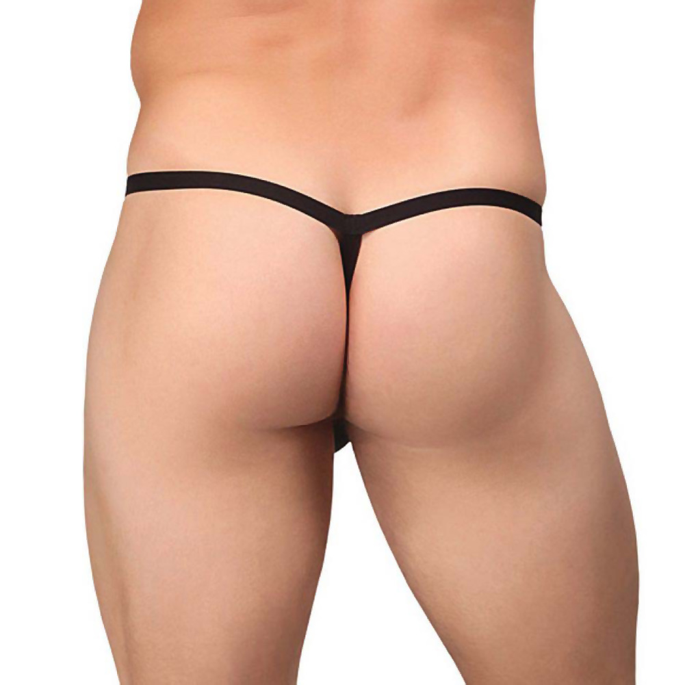 Male Power Extreme Perk U Later G-String One Size Black - View #2