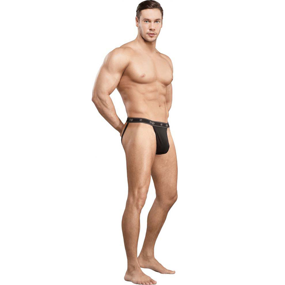 Male Power Bamboo Sport Jock Thong Large/Extra Large Black - View #3