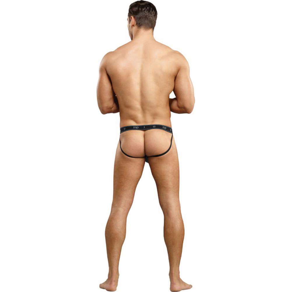 Male Power Bamboo Sport Jock Thong Small/Medium Black - View #4