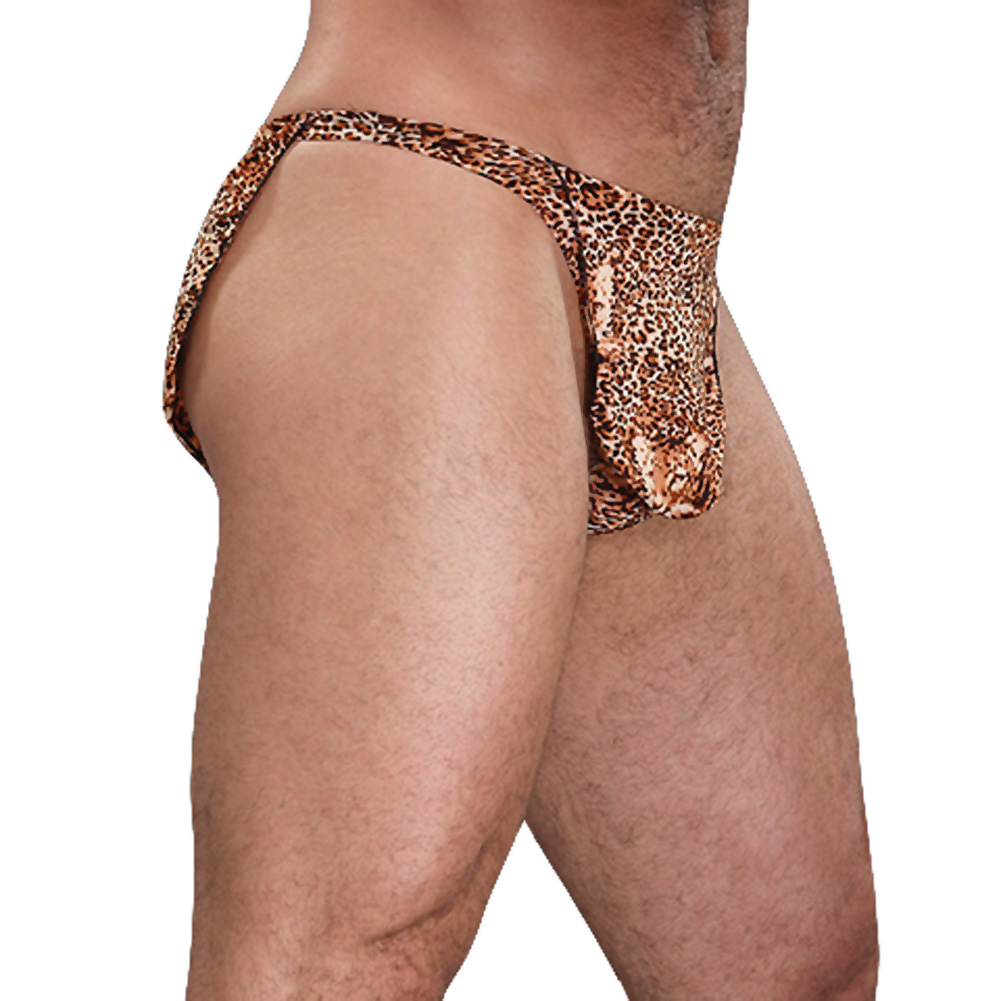 Male Power Tarzan Thong One Size Animal Print - View #1