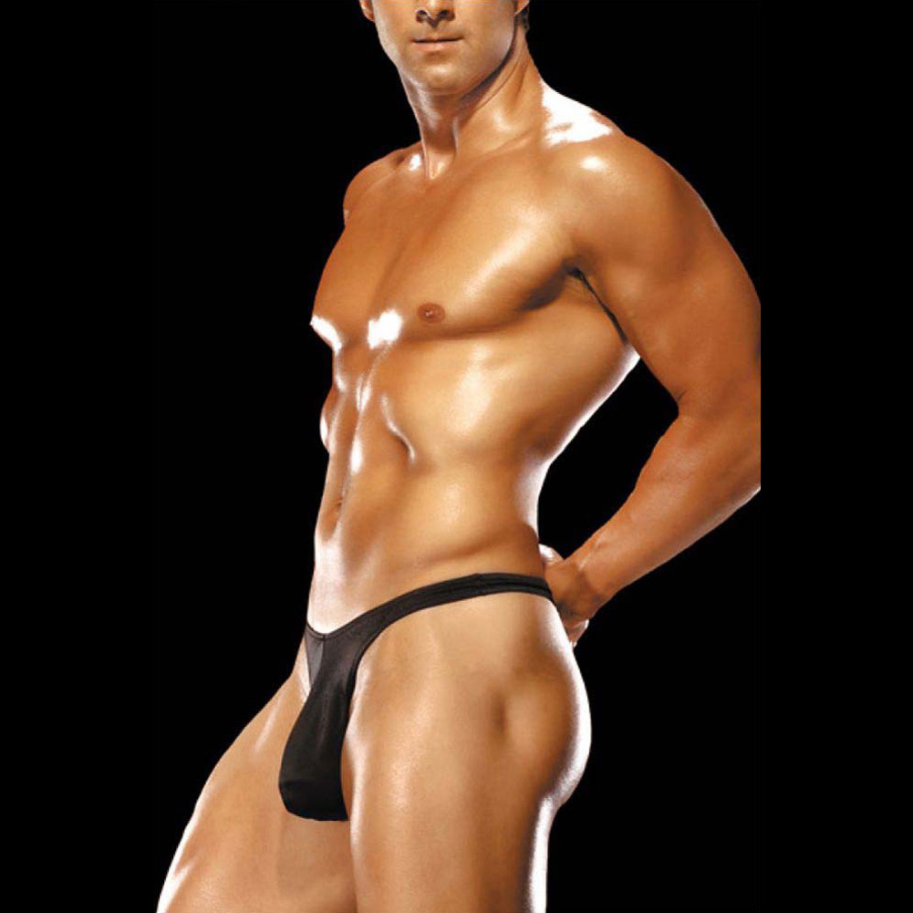 Male Power Mens Bong Thong Small/Medium Black - View #3