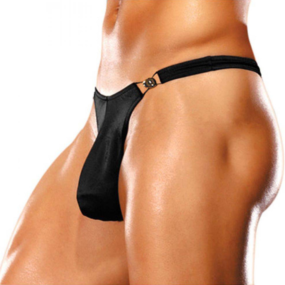 Male Power Bong Clip Thong Large/Extra Large Black - View #1