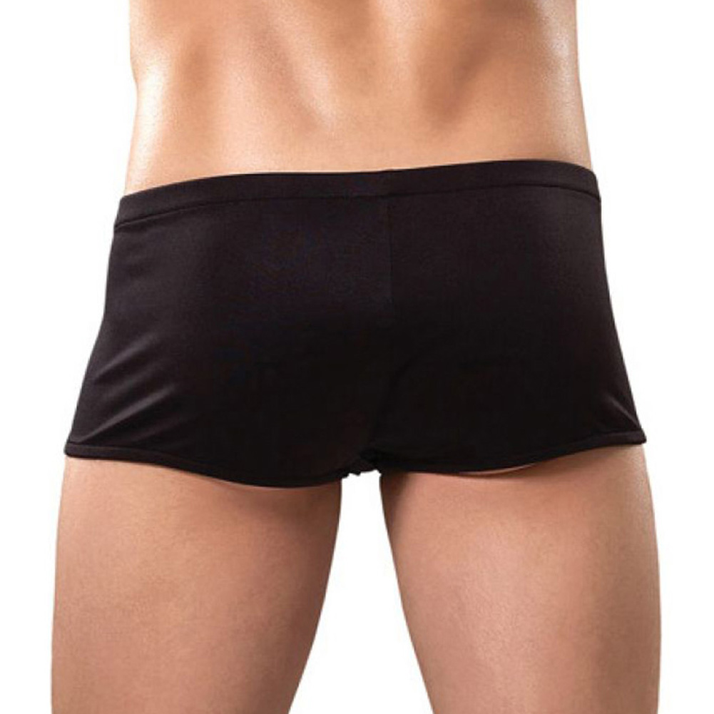 Male Power Zipper Shorts Small/Medium Black - View #2