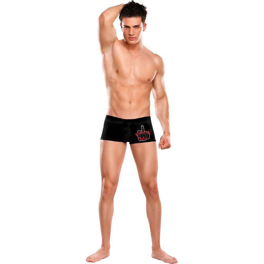 Male Power Oral Assault Fuck Me Brief Shorts Large/Extra Large Black - View #2