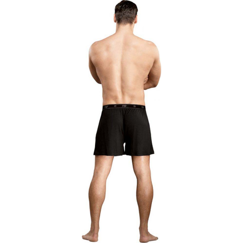 Male Power Bamboo Boxer Shorts Extra Large Black - View #2