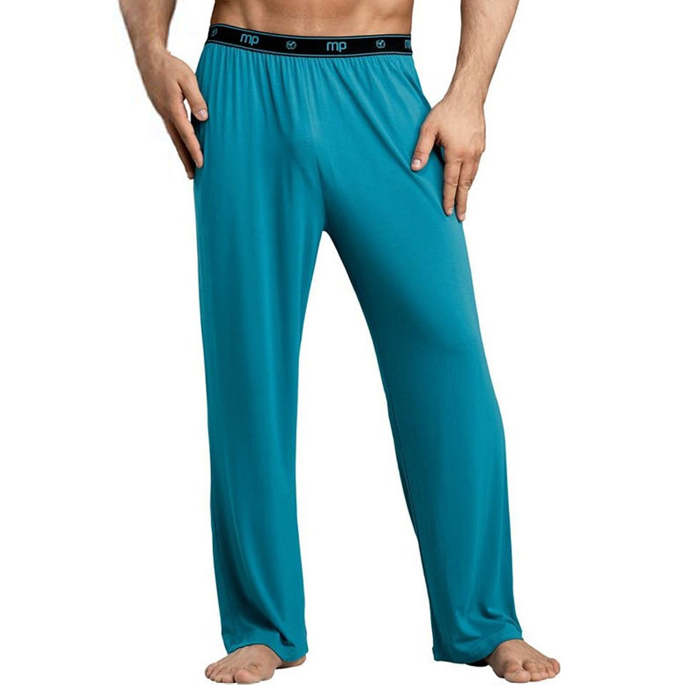 Male Power Bamboo Lounge Pant Medium Teal - View #1