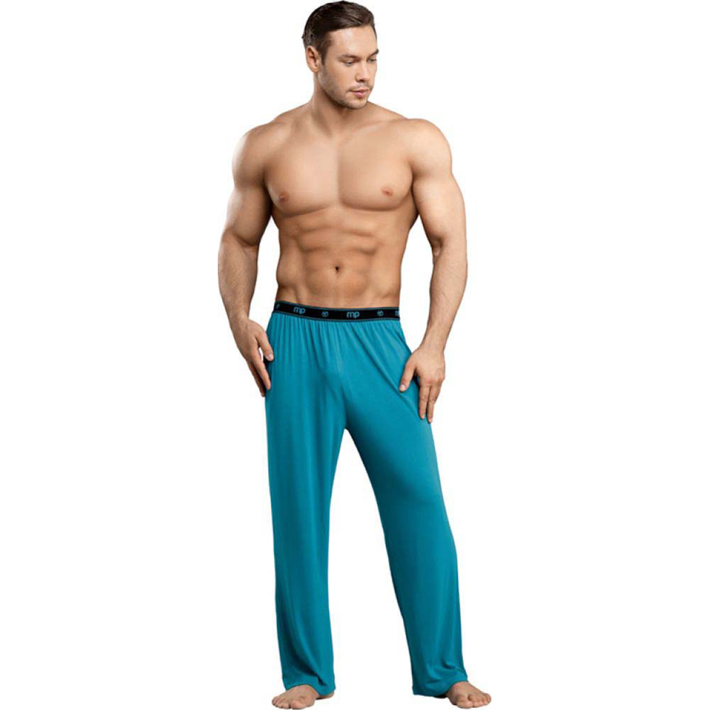 Male Power Bamboo Lounge Pant Medium Teal - View #3