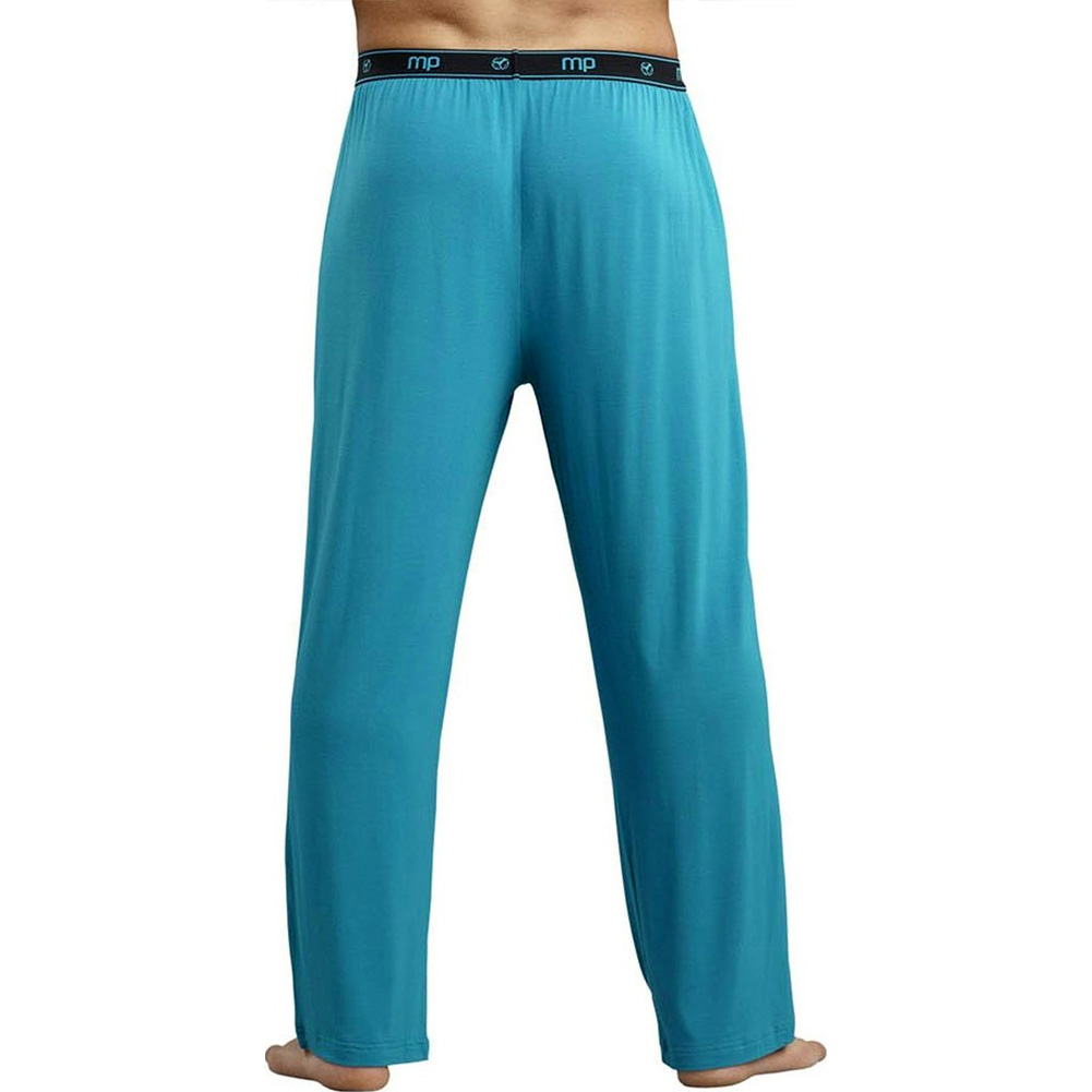 Male Power Bamboo Lounge Pants Small Teal - View #2