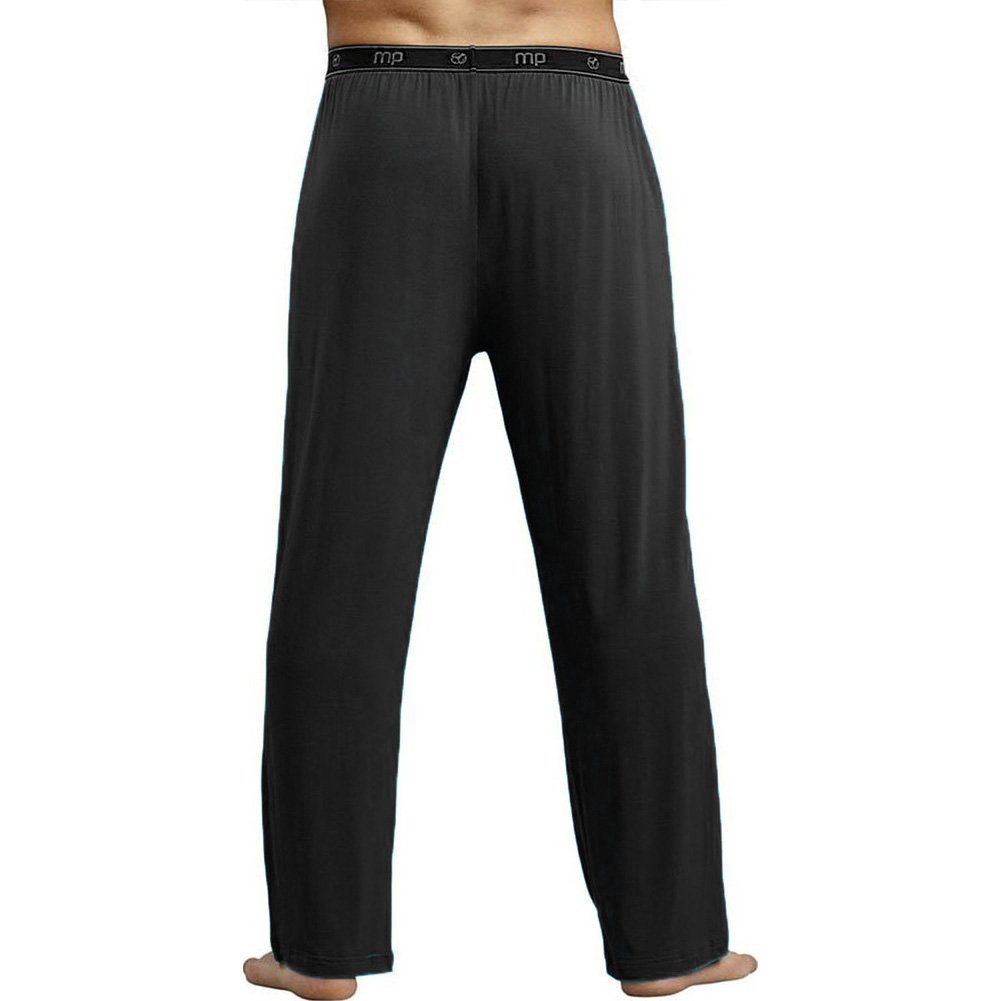 Male Power Bamboo Lounge Pants Large Black - View #2